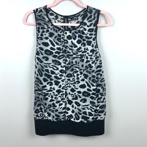 Ann Taylor Animal Print Tank Top